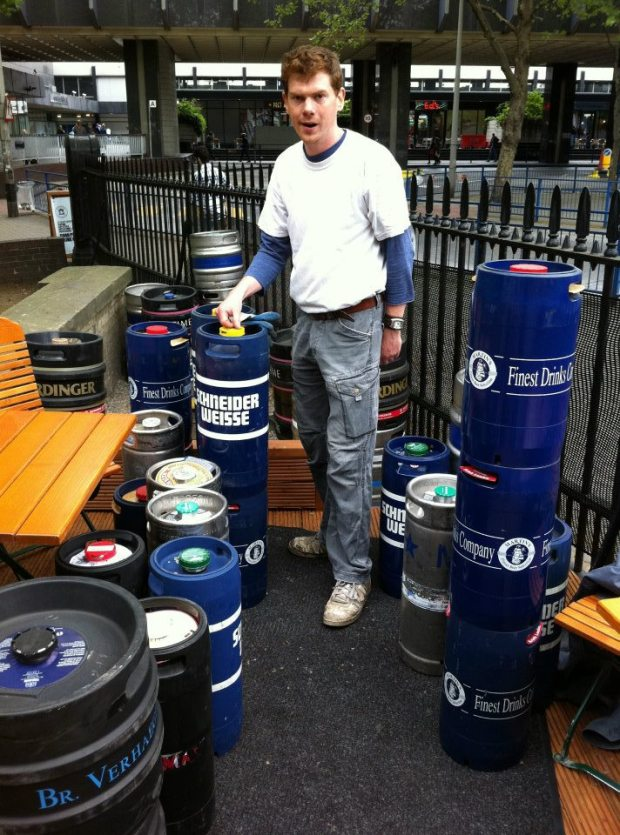 Graham the cellarman, with the barrels that are endless.